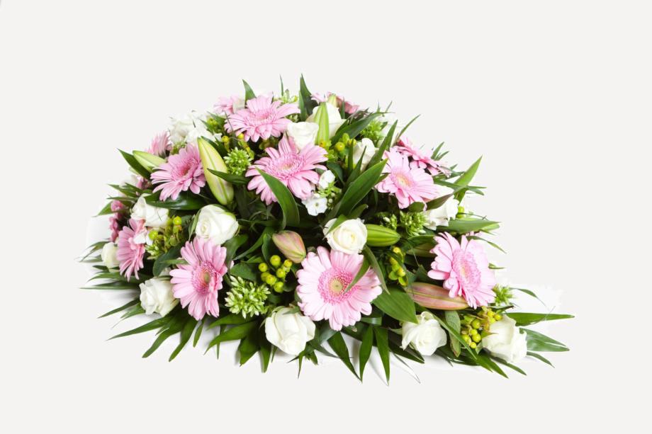lelies rouwboeket groen